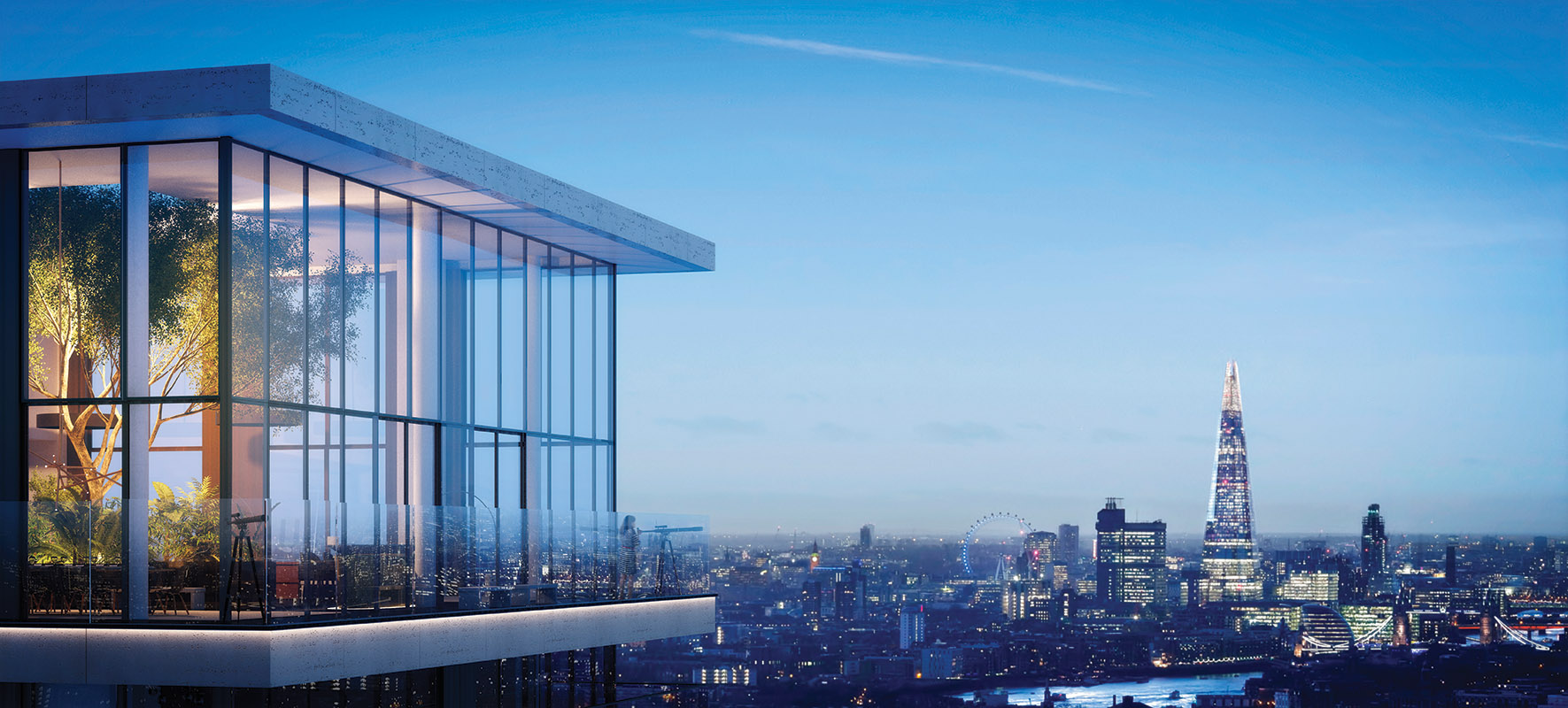 The observation deck at Wardian London